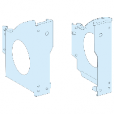 01050 - Left and right drilled base brackets - Prisma G - IP30, Schneider Electric