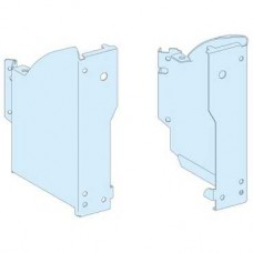 01051 - Left and right plain base brackets - Prisma G - IP30, Schneider Electric