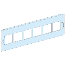 03910 - front plate with 6 pre cut-out 72x72 width 600/650 3M, Schneider Electric