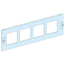 03911 - front plate with 4 pre cut-out 96x96 width 600/650 3M, Schneider Electric