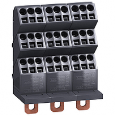 04033 - Linergy DP 3P distribution block -compact NSX INS - 250A -27 holes quick connect, Schneider Electric