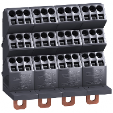 04034 - Linergy DP 4P distribution block -compact NSX INS - 250A -36 holes quick connect, Schneider Electric