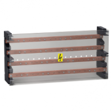 04055 - Linergy BS - 4P multistage busbar block 630A - 52 holes - 235x470x115, Schneider Electric