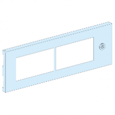 08376 - partial plain door 4M Prisma G IP55/11-27M, Schneider Electric