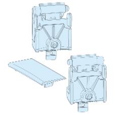 08585 - front plate hinge kit - Prisma, Schneider Electric