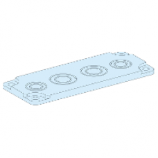 08892 - knockout gland plate 4 entries M20-40 for ref 08871/08875/08876 G IP30 and IP55, Schneider Electric
