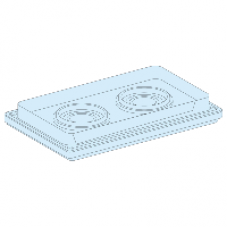 08899 - gland plate 2 entries diameter 33 to 72mm direct mounting Prisma G IP55, Schneider Electric