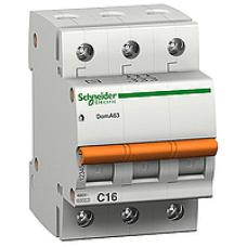 11054 - Domae MCB - miniature circuit-breaker - 3P - 25A - C Curve - 4500A, Schneider Electric