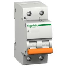 12493 - Domae MCB - miniature circuit-breaker - 2P - 6A - C Curve - 4500A, Schneider Electric