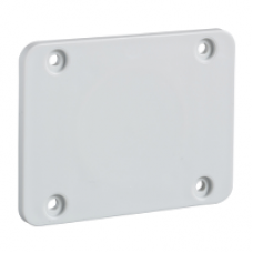 13135 - 65 x 85 mm plate - for 50 x 50 mm outlet, Schneider Electric