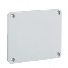 13137 - 90 x 100 mm plate - for 65 x 65 or 75 x 75 mm outlet, Schneider Electric