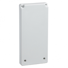 13143 - 103 x 225 mm plate - for 65 x 65 outlet or pushbuttons, Schneider Electric