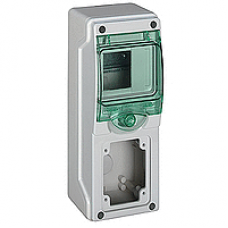 13175 - Kaedra - for power outlet - 1 openings - 1 x 4 modules, Schneider Electric
