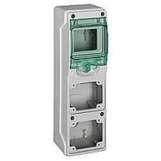 13176 - Kaedra - for power outlet - 2 openings - 1 x 4 modules, Schneider Electric