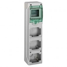 13177 - Kaedra - for power outlet - 3 openings - 1 x 4 modules, Schneider Electric