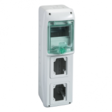 13178 - Kaedra - for power outlet - 2 openings - 1 x 5 modules, Schneider Electric