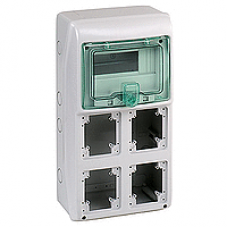 13179 - Kaedra - for power outlet - 4 openings - 1 x 8 modules, Schneider Electric