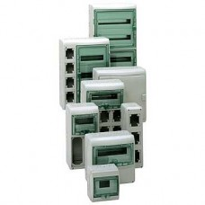 13186 - Kaedra - for power outlet - 2 openings - 1 x 8 modules, Schneider Electric