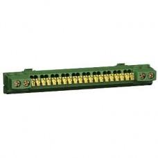 13410 - earth terminal block - 24 points - for Opale Mini pragma, Schneider Electric