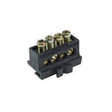 13575 - distribution terminal block - 80 A - 4 holes, Schneider Electric