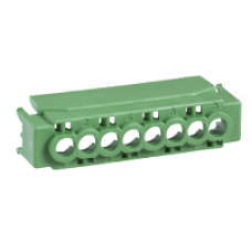 13582 - IP2 cover for 8 holes terminal block - green, Schneider Electric