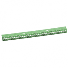 13583 - IP2 cover for 16 22 and 32 holes terminal block - green, Schneider Electric