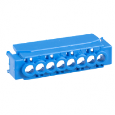 13586 - IP2 cover for 8 holes terminal block - blue, Schneider Electric
