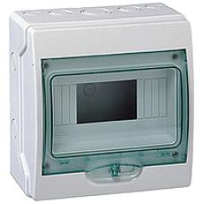 13979 - mini Kaedra - for modular device - 1 x 12 modules - 267 x 200 mm - 7 pre-cutouts, Schneider Electric