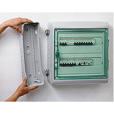 13984 - Kaedra - for modular device - 2 x 18 modules - 1+1 terminal blocks, Schneider Electric