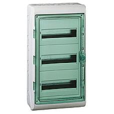 13986 - Kaedra - for modular device - 3 x 18 modules - 2 terminal blocks, Schneider Electric