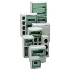 13987 - Kaedra - for modular device - 4 x 18 modules - 2 terminal blocks, Schneider Electric