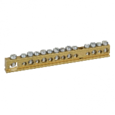 14965 - Terminal block - 125A - 14 holes, Schneider Electric