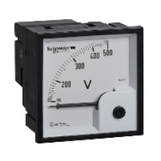 16005 - analog voltmeter VLT - 72 x 72 mm - 0..500 V, Schneider Electric