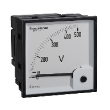16075 - voltmeter VLT PowerLogic - 96 x 96 - ferromagnetic - 0..500 V, Schneider Electric