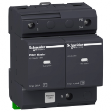 16361 - PRD1 Master modular surge arrester - 1 pole + N - 350V - with remote transfer, Schneider Electric