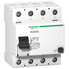 16756 - residual current circuit breaker ID - 4 poles - 63 A - class B 30 mA, Schneider Electric
