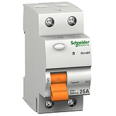 16790 - residual current circuit breaker - 2 poles - 25 A - class AC 30mA, Schneider Electric