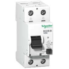 16972 - residual current circuit breaker ID si - 2 poles - 125 A - class A 30 mA, Schneider Electric