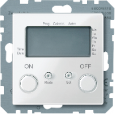 MTN581219 - Time switch polar white glossy System M, Schneider Electric