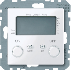 MTN581225 - Time switch active white glossy System M, Schneider Electric
