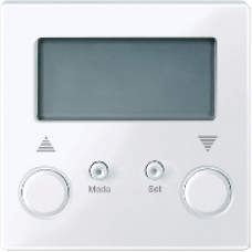 MTN581425 - Standard blind time switch active white glossy System M, Schneider Electric