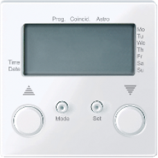 MTN581525 - Blind time switch active white glossy System M, Schneider Electric