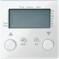 MTN581619 - Blind time switch with sensor connection polar white glossy System M, Schneider Electric