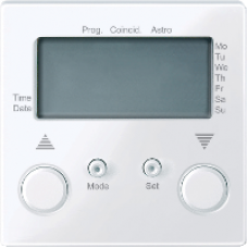 MTN581625 - Blind time switch with sensor connection active white glossy System M, Schneider Electric