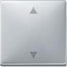 MTN584360 - Blind pbutton w. mem. funct. & sensor conn. aluminium Artec/Trancent/Antique, Schneider Electric