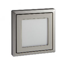MTN585846 - Central plate with window stainless steel Artec/Trancent/Antique, Schneider Electric