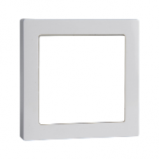 MTN587425 - Central plate with window active white glossy System M, Schneider Electric