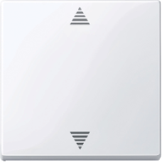 MTN587725 - Blind push-button active white glossy System M, Schneider Electric