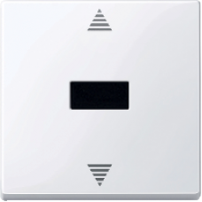 MTN588025 - Blind push-button w. IR receiver & sensor conn. active white glossy System M, Schneider Electric