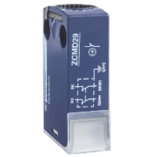 ZCMD29C12 - limit switch body ZCMD - 2NC - silver - snap action - connection - M12, Schneider Electric